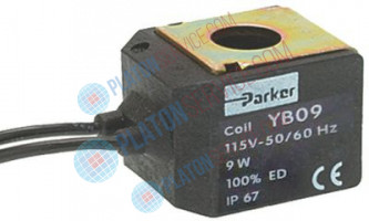 COIL PARKER YB09 115V 9W 50/60Hz length 34 mm - height 32 mm