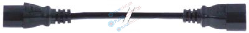 extension cable C13 - C14 3-pole contacts P+N+E 1mm² max. 10A max 250V 1m T70 for equipment inlet