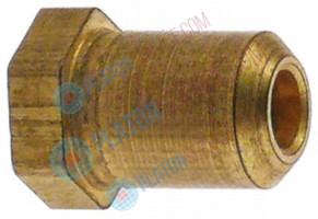 "gas injector code 52 thread 3/8"" UNF bore ø 1,5mm ø 11mm total length 18,5mm WS 13"