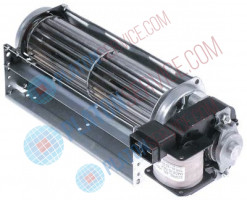 cross flow fan roller ø 45mm roller length 180mm laminated core thickness 15mm motor position right
