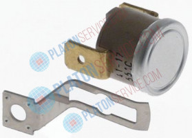 bi-metal thermostat switch-off temp. 55°C 1NC 1-pole 10A connection F6.3 1 hole fixing Ty.60