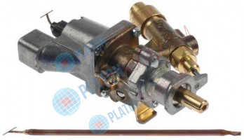 gas thermostat SABAF t.max. 300°C gas inlet pipe flange ø16mm bypass nozzle ø 0,37mm