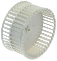 fan wheel for radial fan ø 96mm shaft diameter 4x5mm H 49mm blades 40 plastic