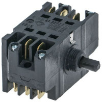 rotary switch 7 2-pole + 1-pole signal contact sequence 0-1-2-3-4-5-6 12A shaft ø 6x4.6mm