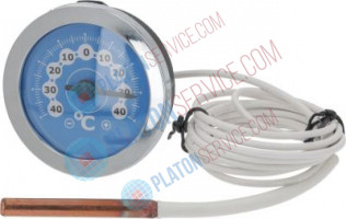 TELE-THERMOMETER ø 52 mm -40+40°C mounting hole 11x62 mm