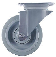 swivel castor without brake ø 160mm plate fixing housing stainless steel plate size 140x110mm