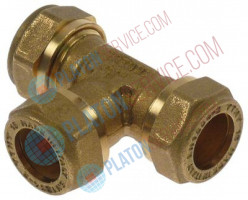 "T-piece thread 1/2"" (tube ø 15mm) brass L 60mm"