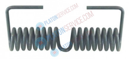 torsion spring ø 21,4mm L2 40mm wire gauge ø 3,3mm L1 100mm L3 34mm
