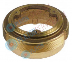 setting ring for grind stone ID ø 50mm H 32,5mm thread M78x1 brass