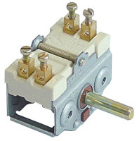 cam switch 2 operating positions 2NO sequence 0-1 16A shaft ø 6x4.6mm shaft L 23mm connection screw