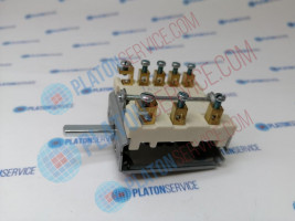 cam switch 7 operating positions 1NO/2CO sequence 0-1-2-3-4-5-6 16A shaft ø 6x4.6mm