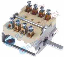 cam switch 4 operating positions sequence 0-1-2-3 shaft ø 6x4.6mm shaft L 23mm