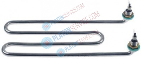 heating element 2000W 230V L 250mm W 100mm connection male faston 6.3mm tube ø 8,5mm