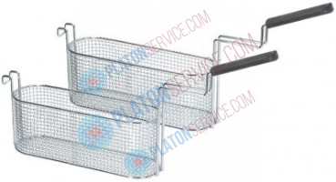 fryer basket W1 100mm L1 325mm H1 122mm L2 575mm H2 185mm H3 292mm chrome-plated steel plastic