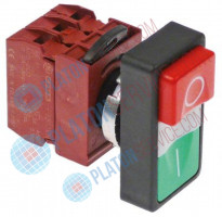 push switch mounting measurements ø22mm complete 1NO/1NC/indicator light