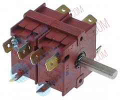 rotary switch 4 operating positions sequence 0-1-2-3 13A shaft ø 6x4.6mm shaft L 23mm