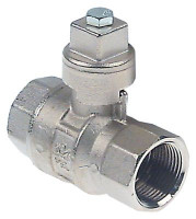 "ball valve connection 3/4"" IT - 3/4"" IT DN20 total length 70mm without handle shaft ø 12x12mm"