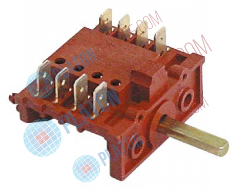 cam switch 2 operating positions operation switch sequence 0-1 shaft ø 6x4.6mm