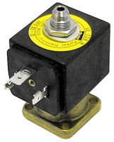 solenoid valve 3-ways 24VDC body outer cone DN 1,2mm slide-on receptacle DIN -20° up to 140°C