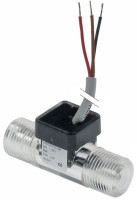 "flow sensor L 55mm connection 3/8"" flow rate l/min inlet ø 16,5mm outlet ø 16,5mm 24V 7m"