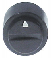 knob switch zero mark ø 16mm shaft ø 6x4.6mm shaft flat lower black