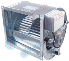 radial fan type DAIN 9/9 420W 230V 50Hz max. 4,3A 1380rpm capacitor 10µF flange 310x355mm