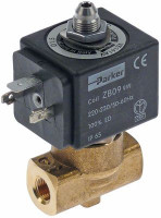 "solenoid valve 3-ways 230VAC connection 1/4"" DN 2mm slide-on receptacle DIN -20° up to 130°C"