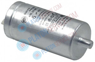 operating capacitor capacity 6µF 450V with metal case tolerance 5% ø 35mm L 70mm metal